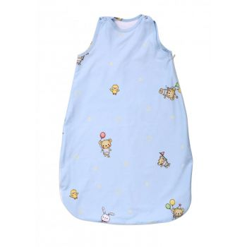 Sac de dormit de iarna 80 cm bumbac ranforce Bear Party Blue