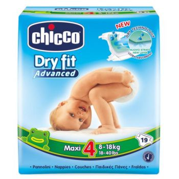 Scutece Dry Fit Advanced Maxi nr.4 (8-18 kg)