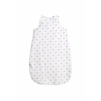 Sac de dormit de vara 100 cm bumbac ranforce Crowns White