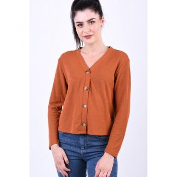 Bluza Only Naja 3/4 Button Ginger Bread