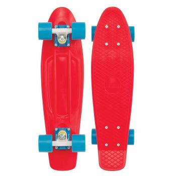 SKATEBOARD RED BLUE 22''