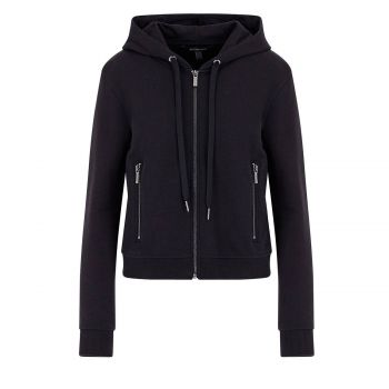 Hooded cardigan sweatshirt L
