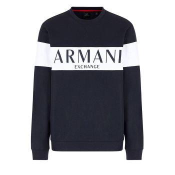 Crew neck sweatshirt with logo lettering M