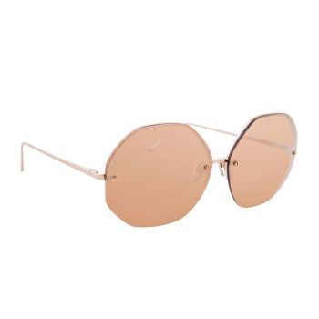LINDA FARROW LFL567C3SUN SUNGLASSES WITH A FRAME MADE OF TITANIUM IN ROSEGOLD AND LENSES MADE OF CRI LP/LI