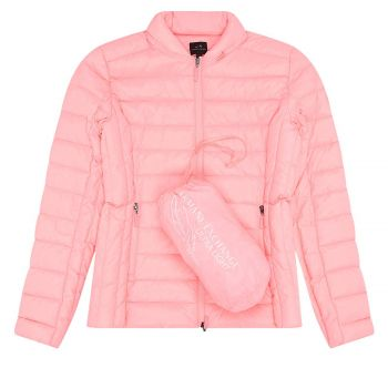 LIGHTWEIGHT QUILTED PUFFER JACKET L