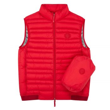 VEST WITH REAL FEATHER PADDING L
