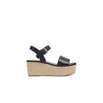 Sandale wedge tip espadrile din piele Emerson