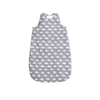 Sac de dormit de iarna 100 cm bumbac ranforce Clouds grey