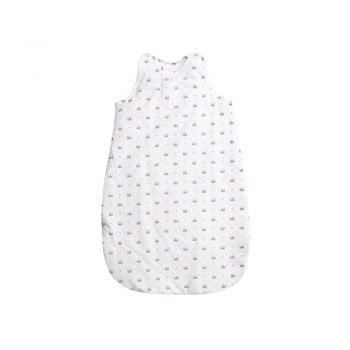 Sac de dormit de iarna 100 cm bumbac ranforce Crowns White