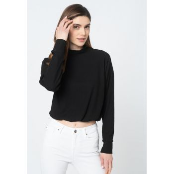 Bluza crop striata