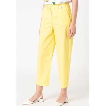 Pantaloni crop relaxed fit